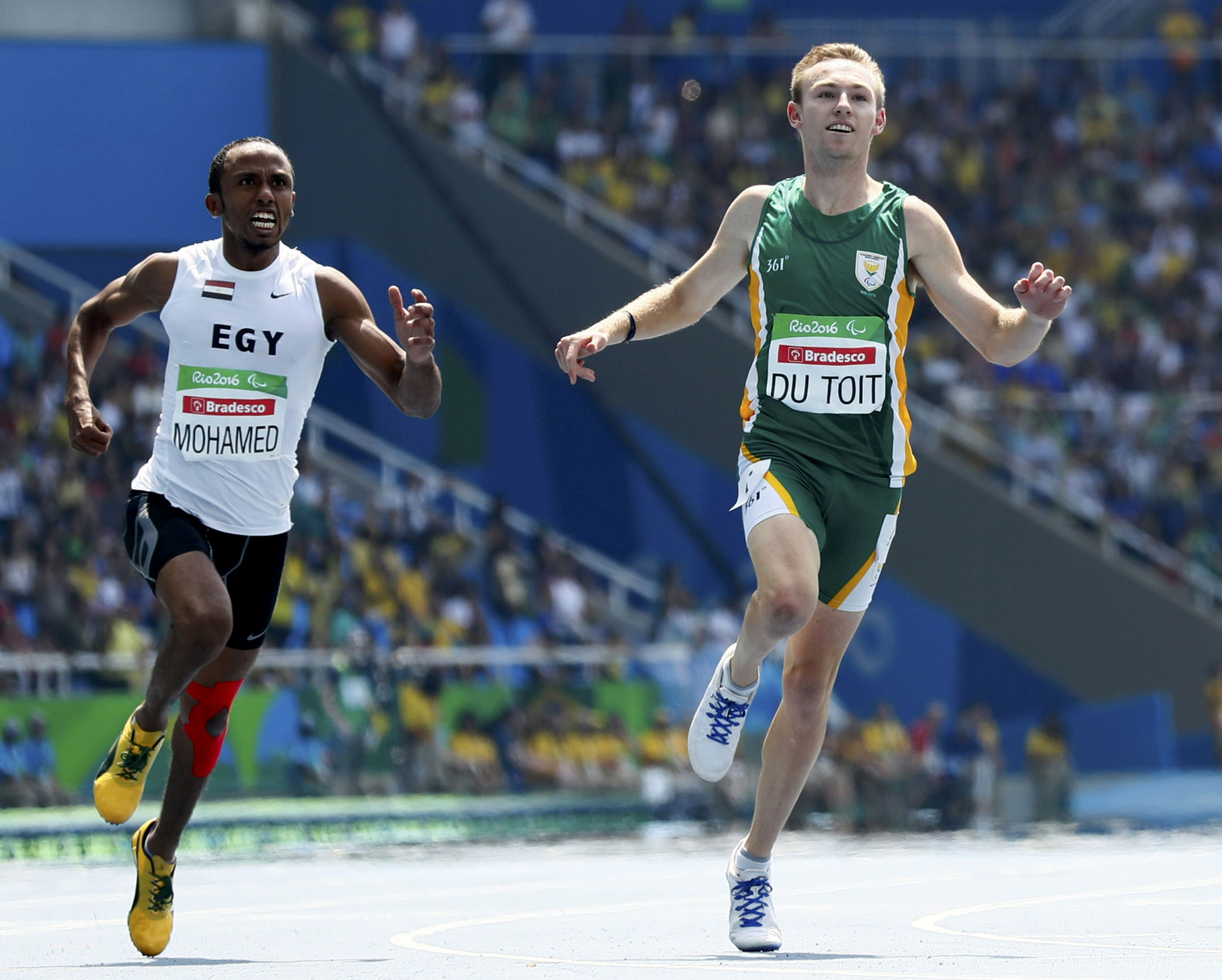 Charl du Toit was South Africa's most successful athlete at the 2016 Paralympic Games in Rio de Janeiro, winning the 100m and 400m T37, as the country won seven gold medals overall ©Getty Images