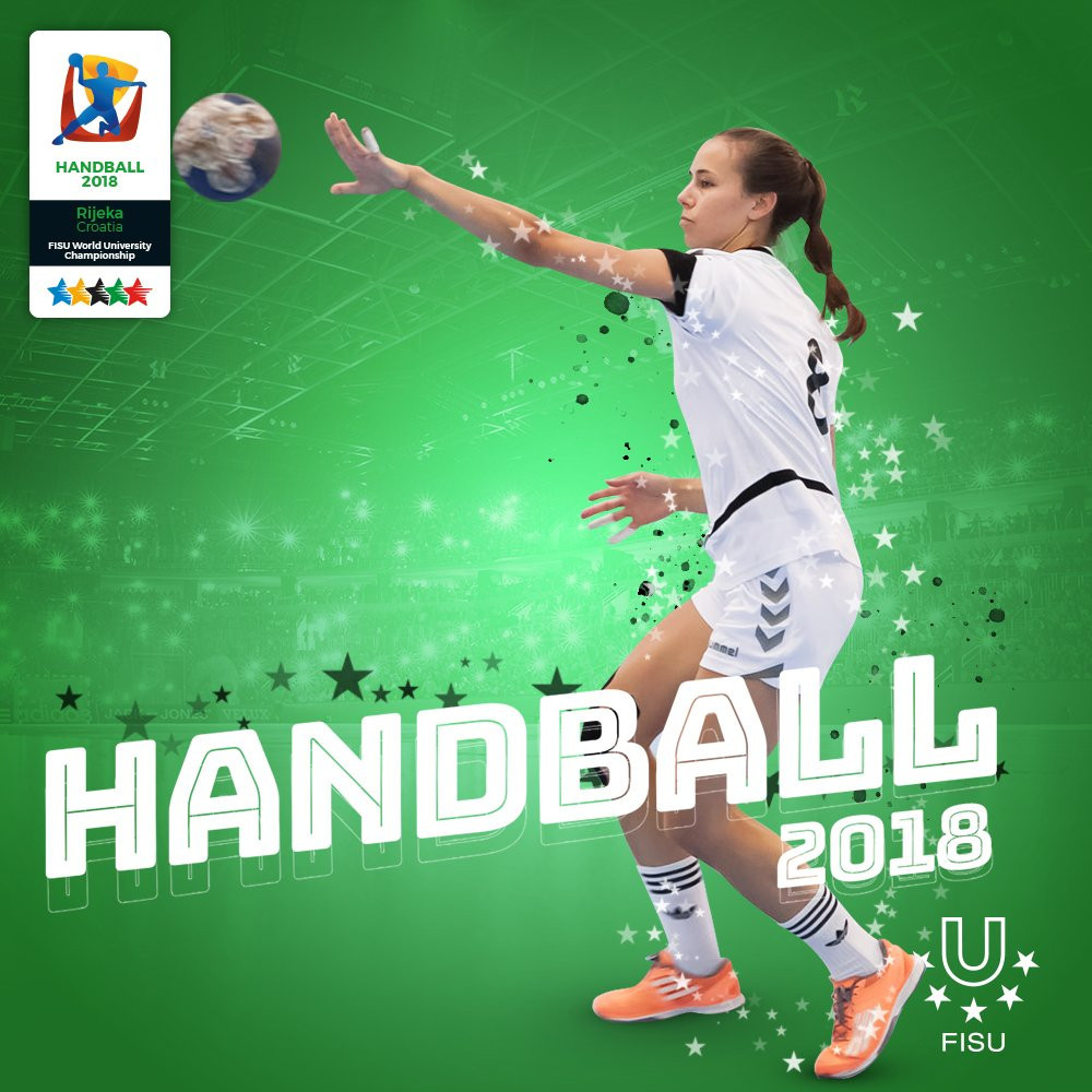 The FISU World University Handball Championships continued today, with four matches in the men's event and two in the women's ©FISU