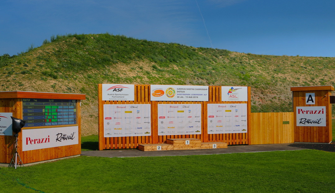 Action is beginning at the European Shooting Championships Shotgun ©ESC