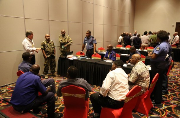 More than 50 members of the Port Moresby 2015 Public Safety and Security Committee were in attendance at the Games-time security operations workshop ©Port Moresby 2015