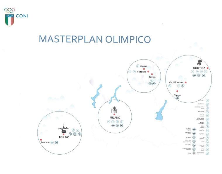 A venue masterplan for the combined Italy bid ©CONI