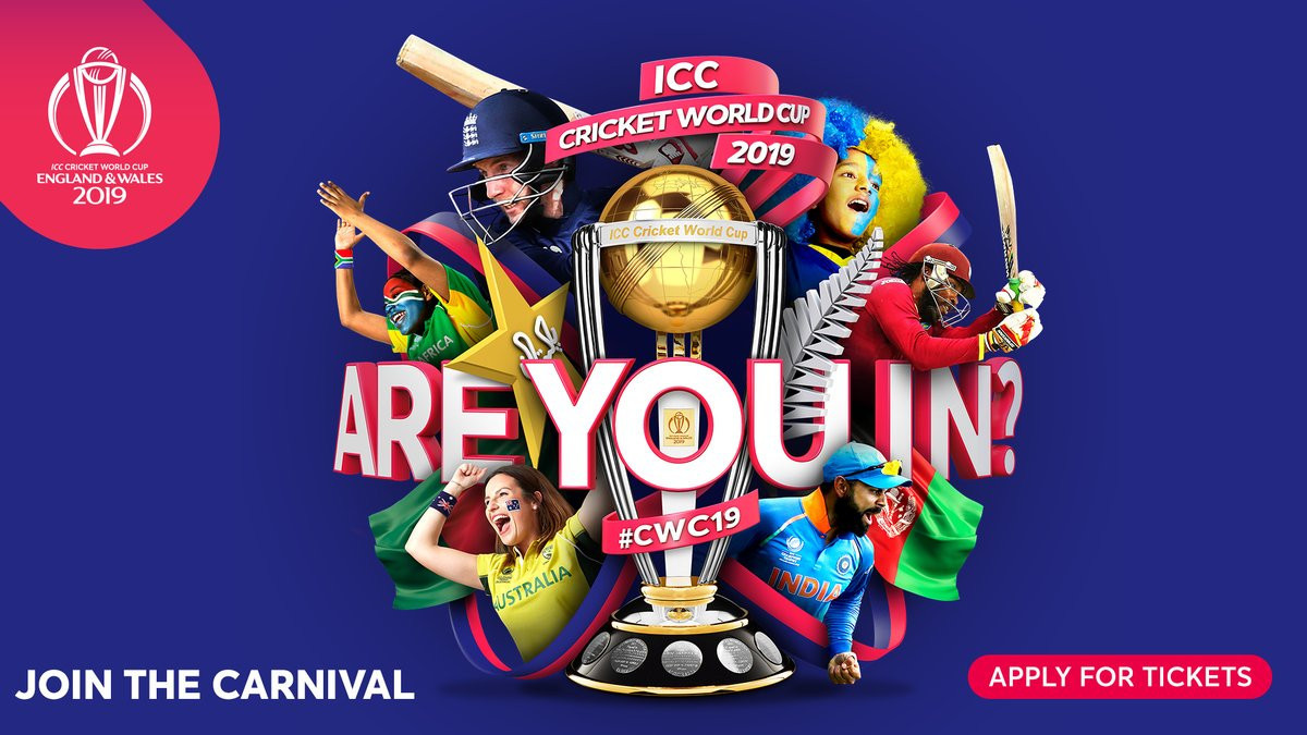 The public ballot for tickets has been launched for the 2019 ICC Cricket World Cup ©ICC