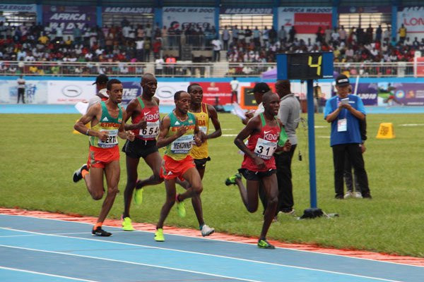 Ethiopia's Jemal Yimer won the 10,000 metres at the African Championships as his travel-weary Kenyan rivals faltered ©IAAF
