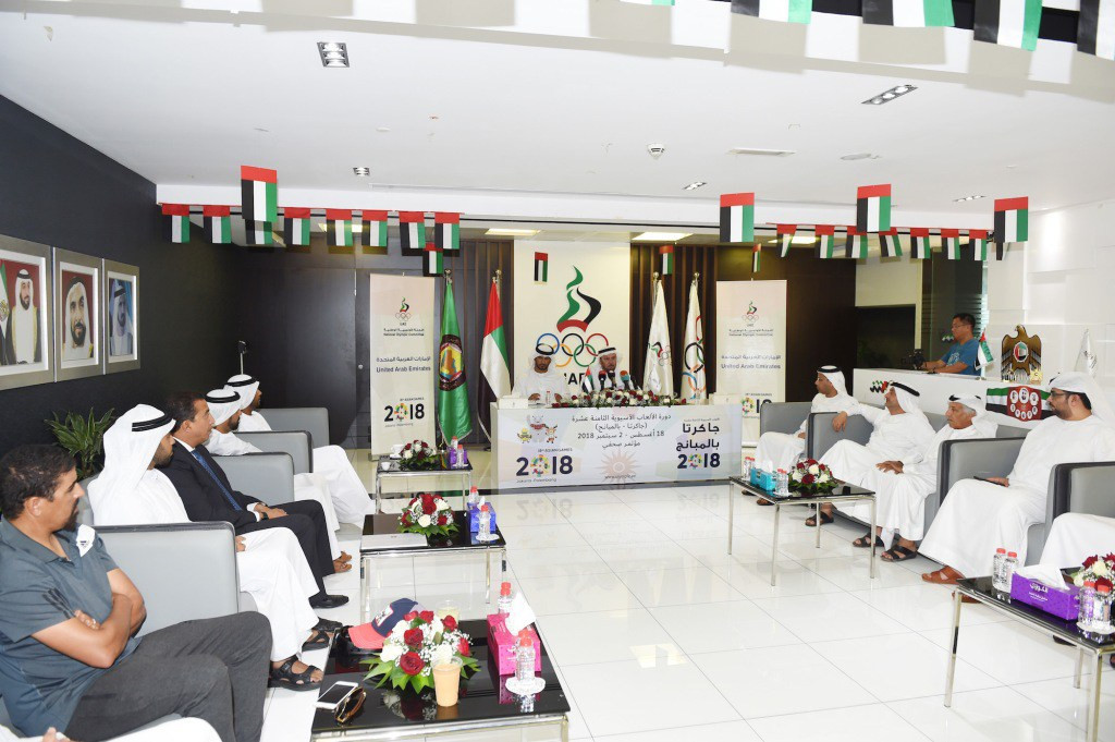 The United Arab Emirates National Olympic Committee has confirmed a delegation of 217 people for the Asian Games ©UAE NOC
