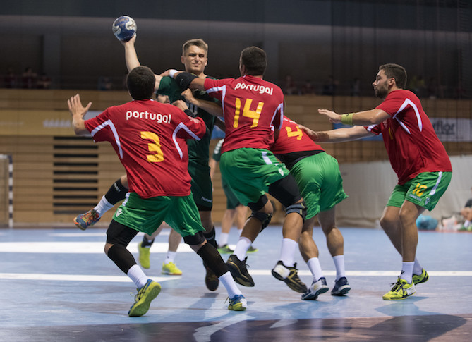 Portugal's defensive capabilities have helped establish them at the top of Group A in the World University Handball Championships in Croatia ©FISU