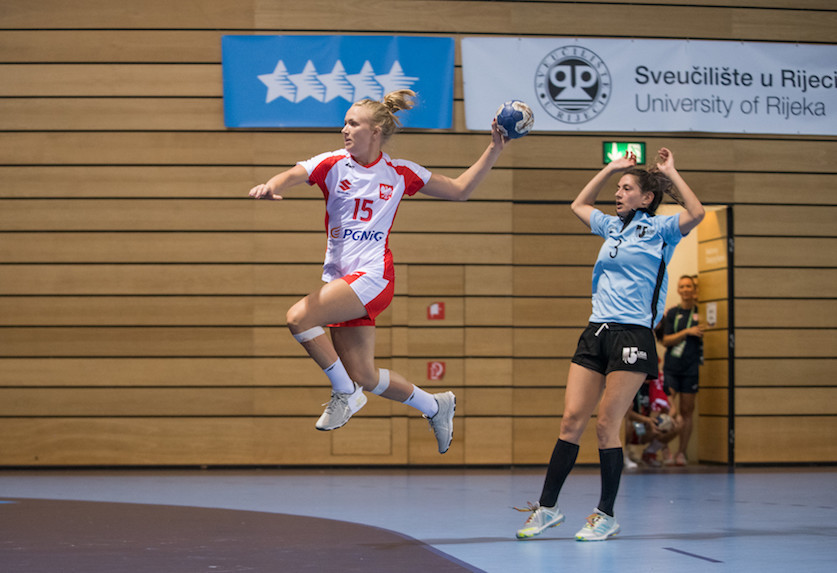 The women's group stage at the World University Handball Championships moved towards a close on a day when titleholders Spain lost to South Korea ©FISU