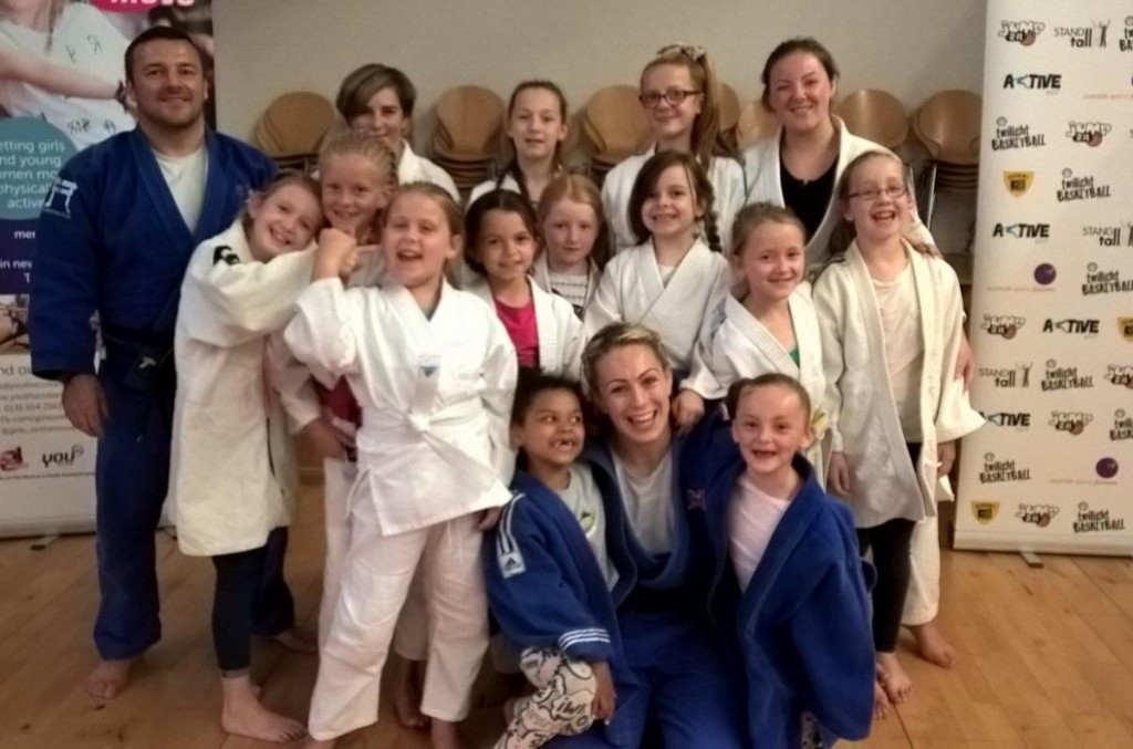 JudoScotland are hoping the programme encourages girls to participate in sport ©JudoScotland