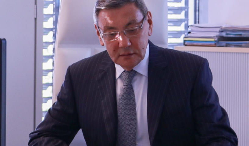Gafur Rakhimov visited the AIBA headquarters in Lausanne ©AIBA