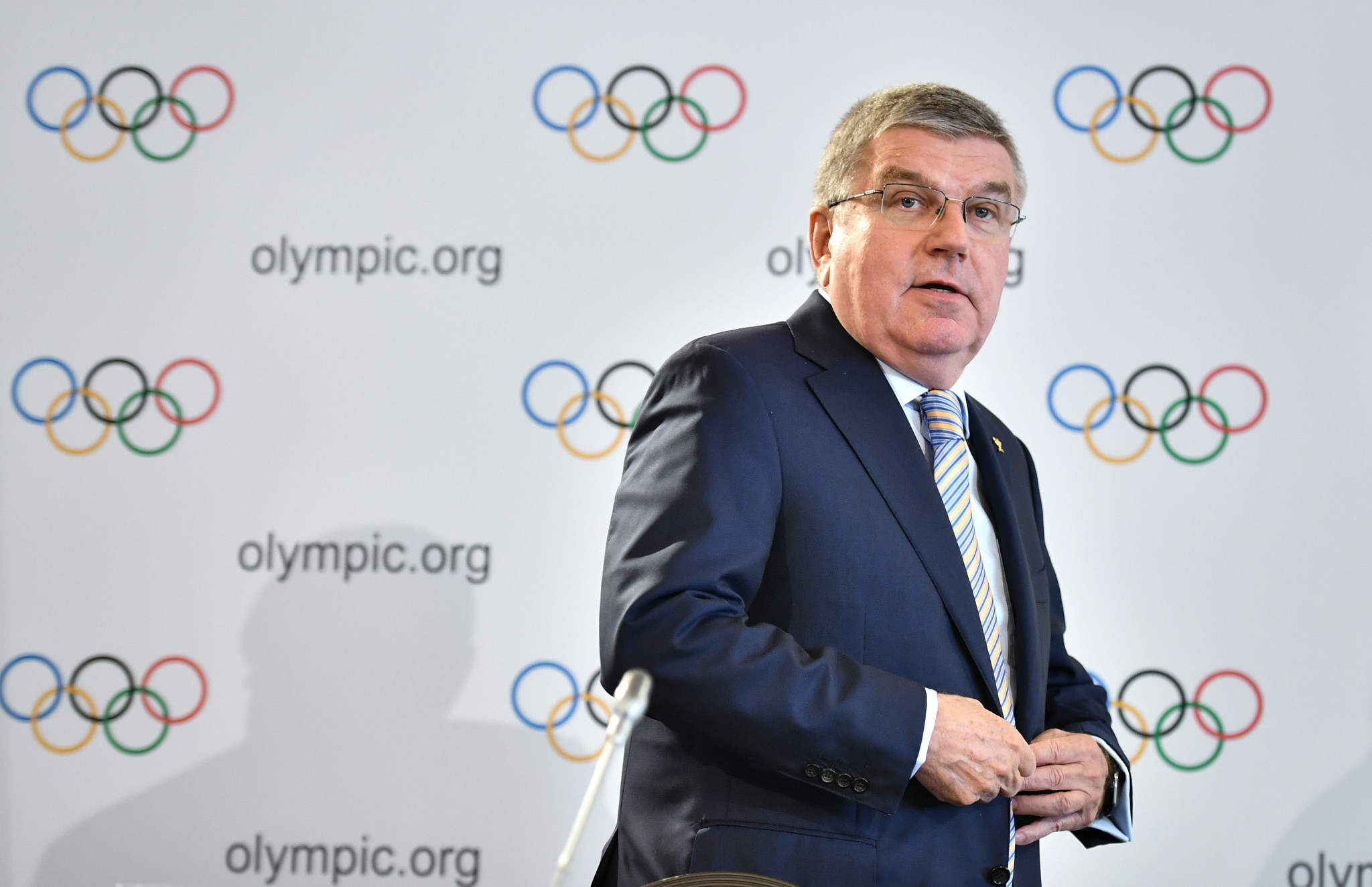 IOC President Thomas Bach has questioned the election of Gafur Rakhimov as interim AIBA President ©Getty Images