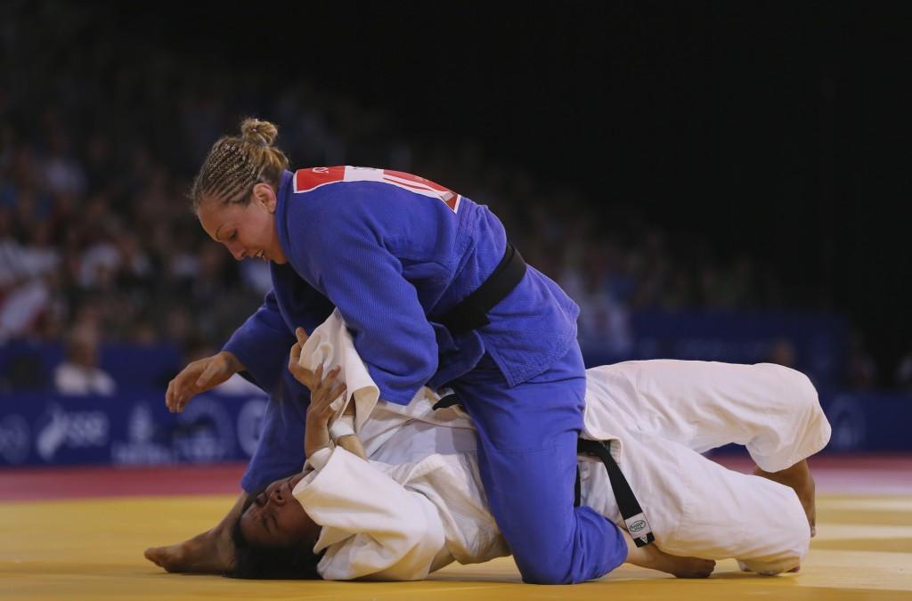 Sally Conway won bronze in the women's under 70 kilogram division at Glasgow 2014