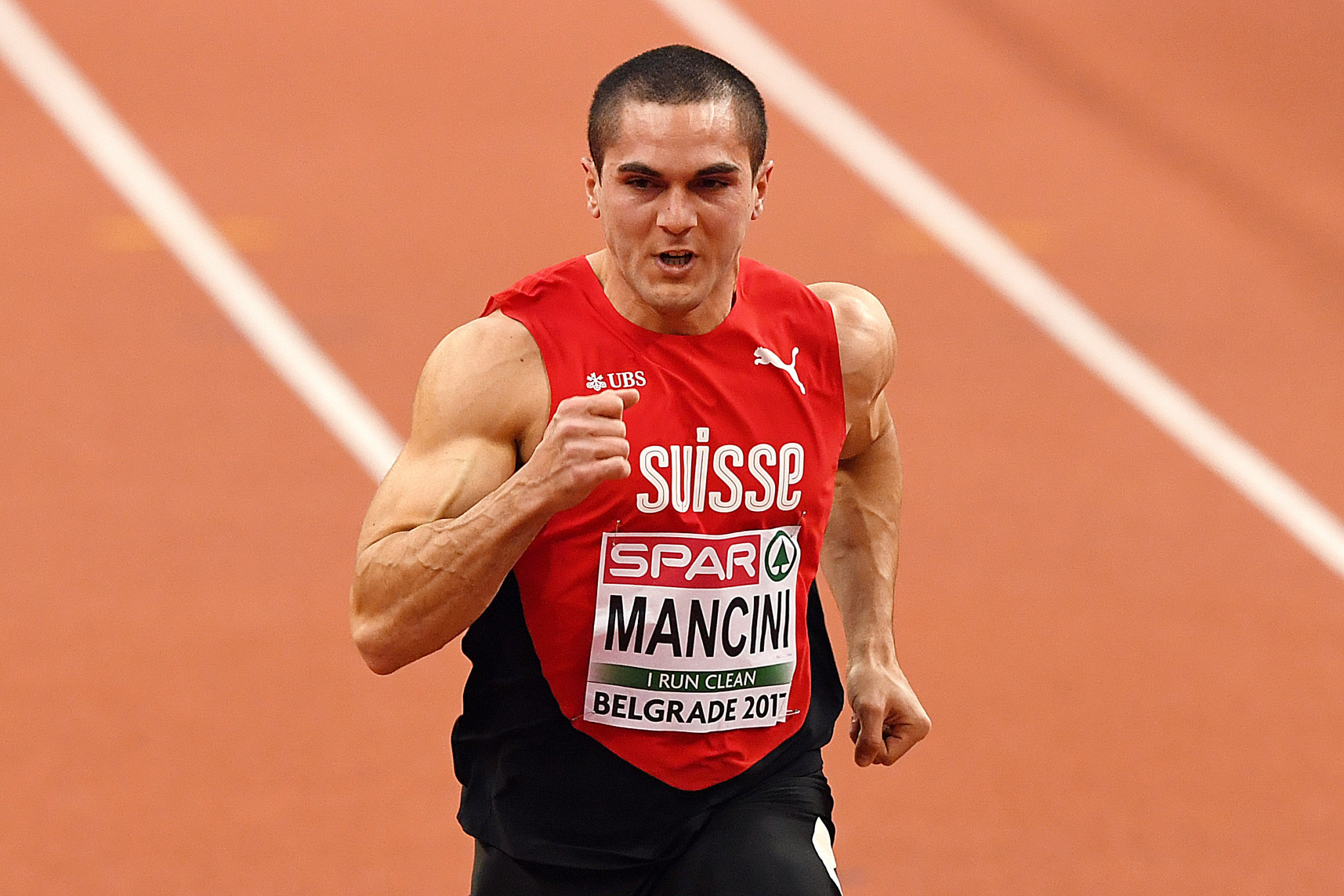 Switzerland have dropped sprinter Pascal Mancini from their team for the European Athletics Championships after he posted racist messages on social media ©Getty Images