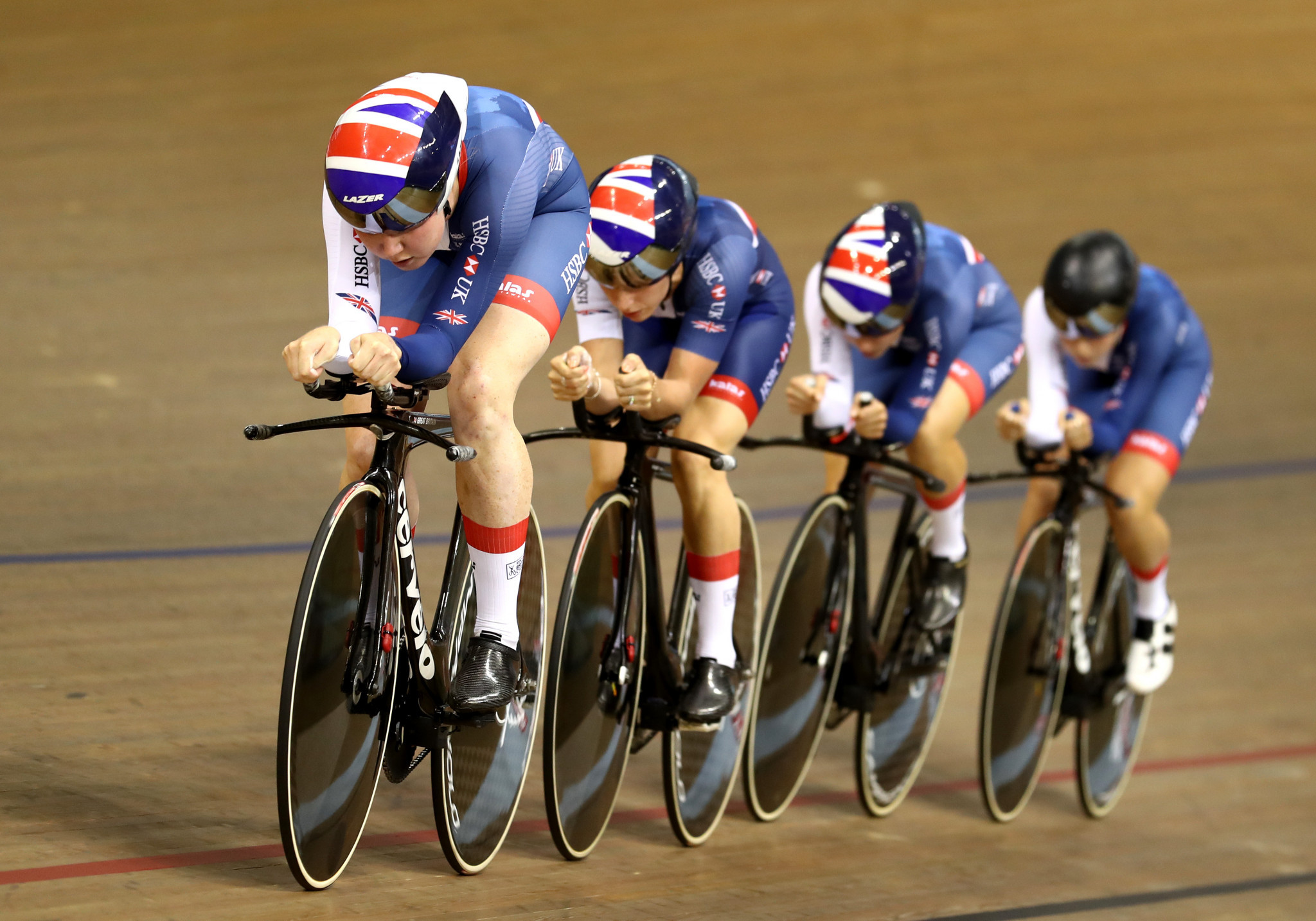 Hosts Britain topped the standings in the women's team pursuit ©Getty Images