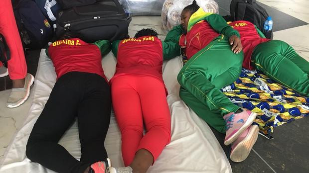 Athletes due to be at the African Athletics Championships at Asaba in Nigeria's Delta Region were stranded due to a lack of connecting flights at Lagos ©Twitter