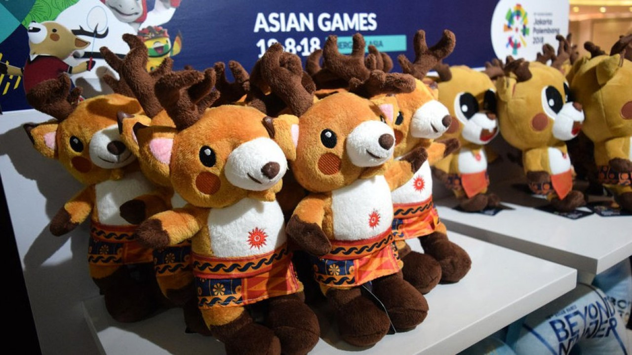 The mascots for Jakarta Palembang 2018 are among the most popular items for sale ©Twitter