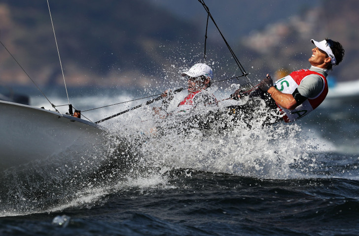 Australia's Mat Belcher and William Ryan made a solid start to the defence of their 470 class world title in Aarhus ©Getty Images