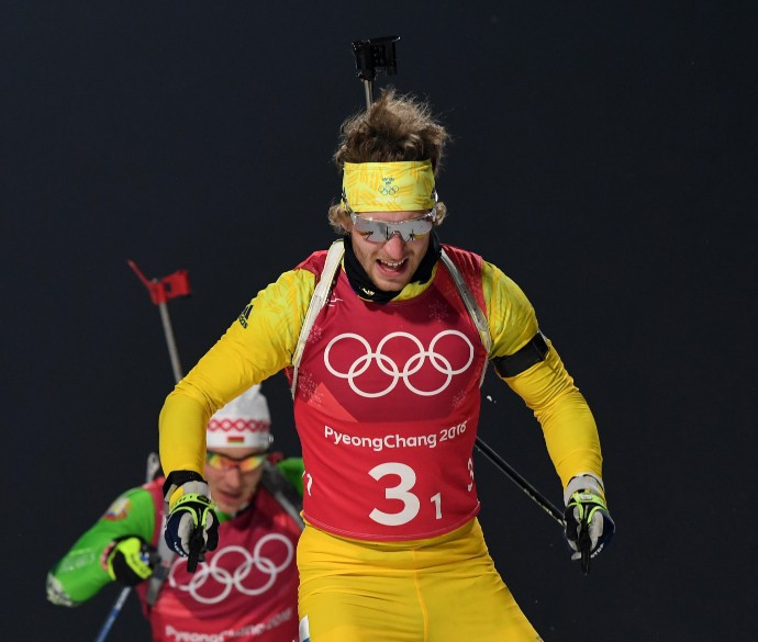 Olympic biathlon champion suffers freak injury as ski pole punctures leg