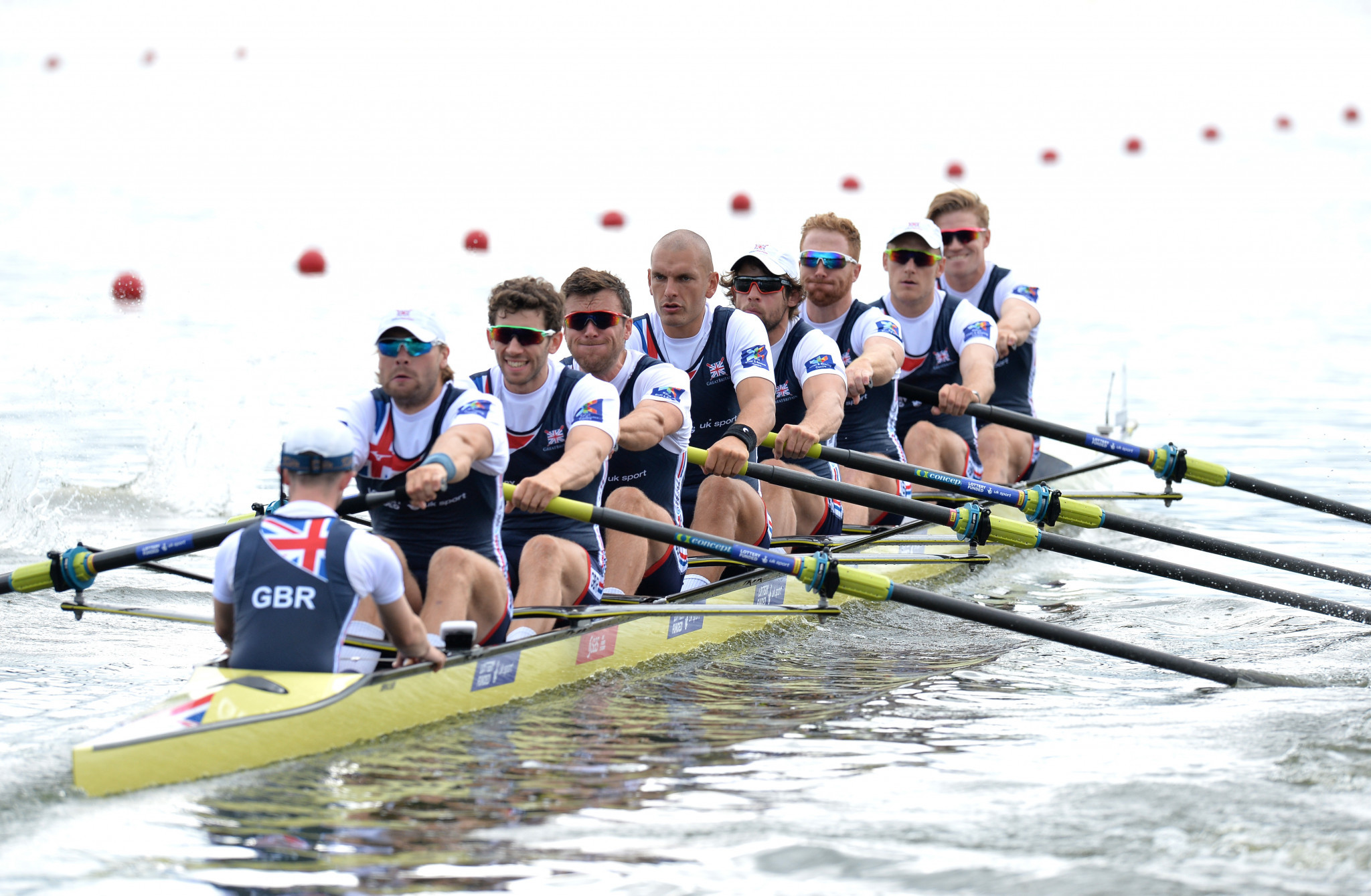 Britain's men's eight crew advanced to the final from the repechage ©Getty Images