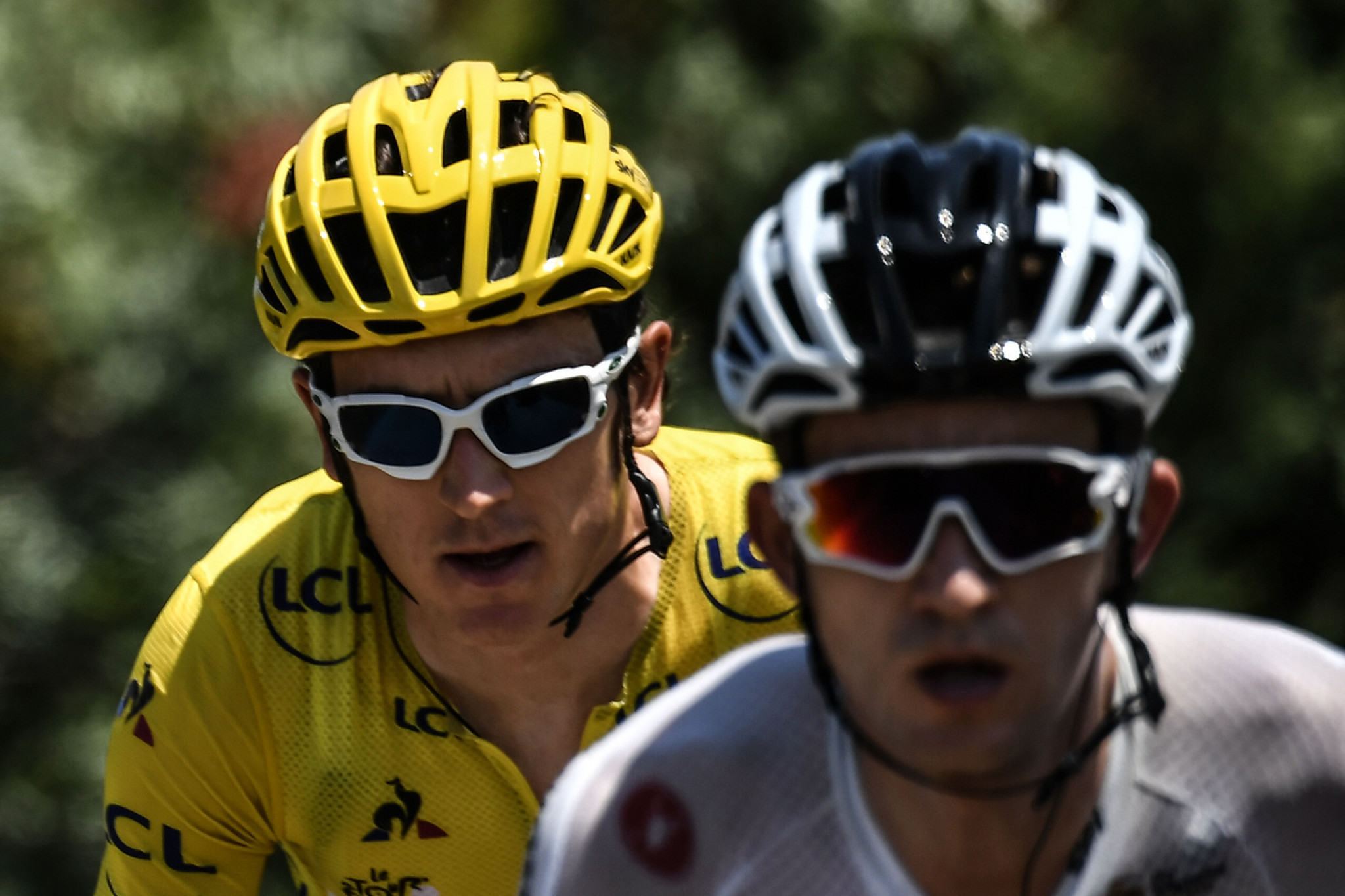 Michał Kwiatkowski, right, pictured supporting Geraint Thomas at the Tour de France will be one of the favourites at the Tour de Pologne ©Getty Images