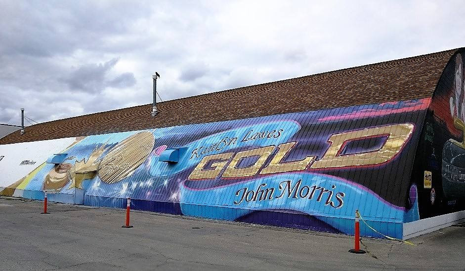 A massive mural in honour of double Olympic gold medallist Kaitlyn Lawes has been unveiled at St. Vital Curling Club in Winnipeg after she won the mixed doubles with partner John Morris at Pyeongchang 2018 ©St. Vital Curling Club/Facebook
