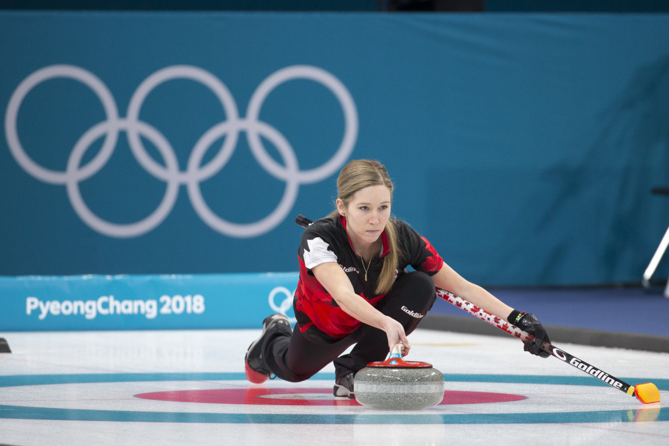 Canadian double Olympic gold medallist immortalised in mural at local curling club