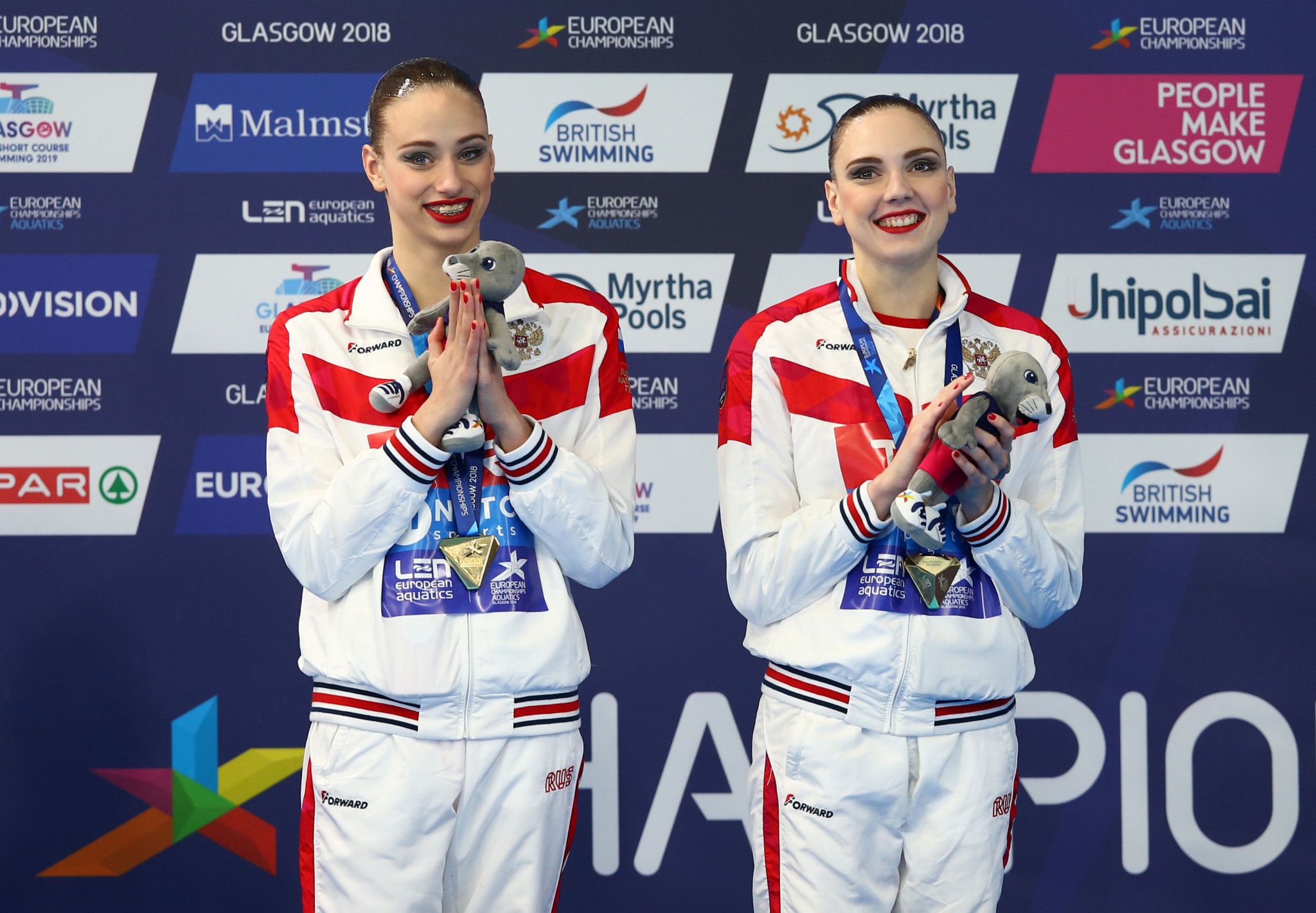 Russia live up to expectations in artistic swimming to secure first two gold medals at Glasgow 2018 European Championships