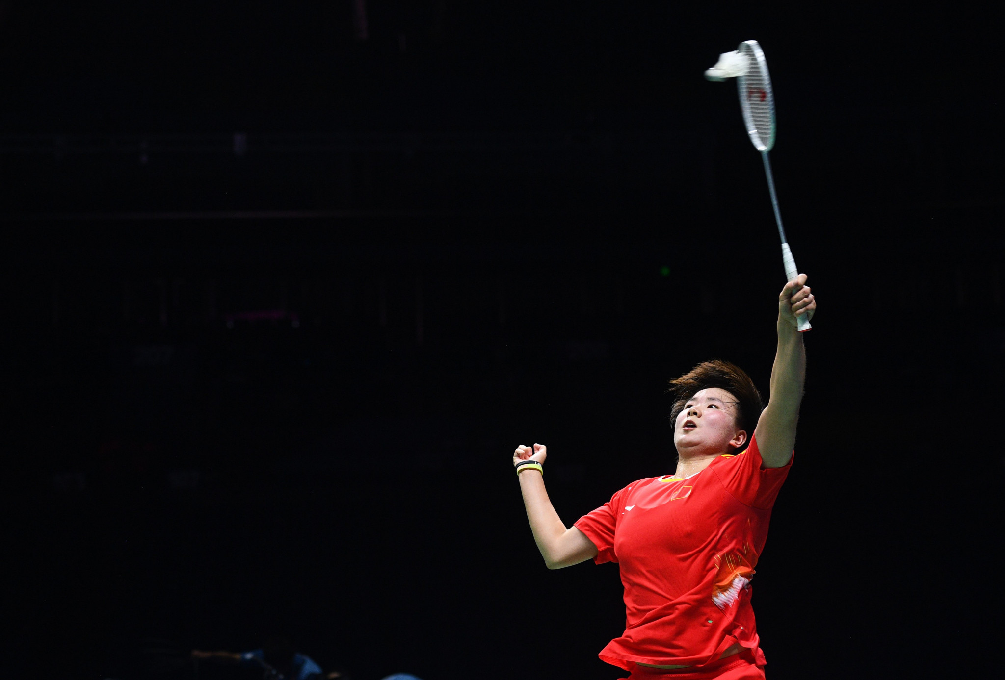 He Bingjiao also secured a shock victory in the women's singles draw ©Getty Images