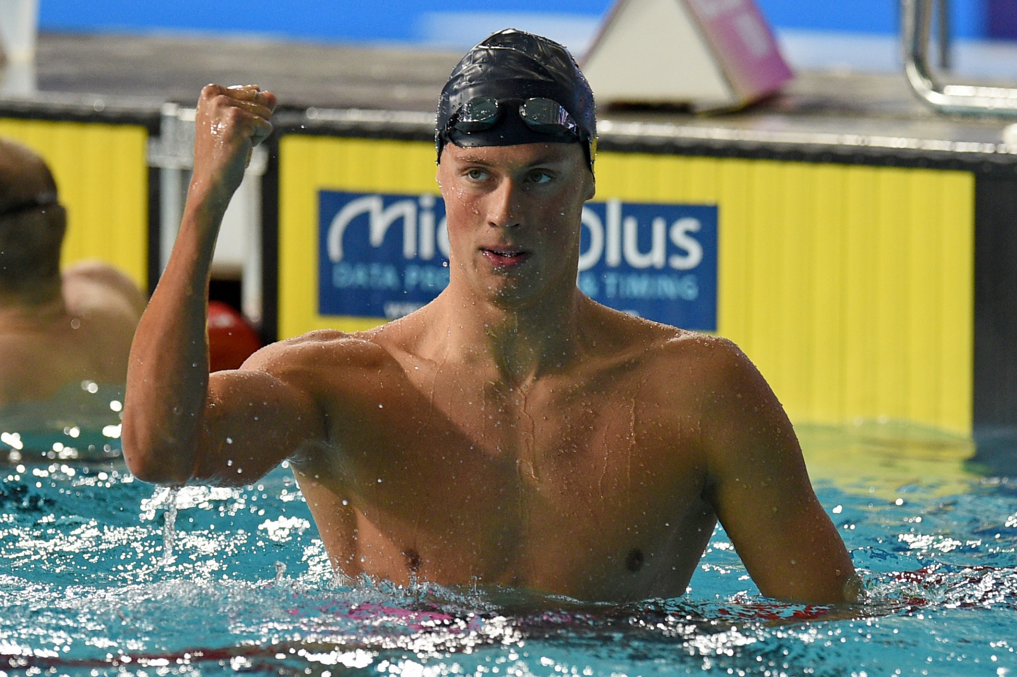 Ukraine's Mykhailo Romanchuk won the men's 400m freestyle title on the opening night of swimming finals ©Getty Images