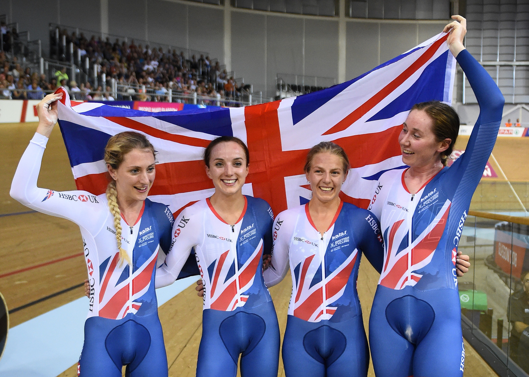 Britain's first gold of the European Championships came in the women's team pursuit ©Getty Images