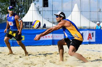 Brazilians looking strong in men's and women's events at Beach Volleyball Major event in Vienna