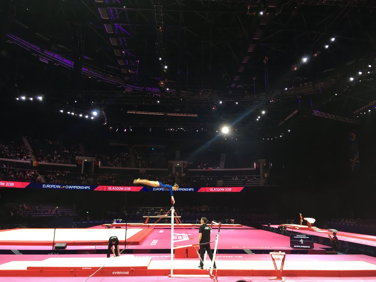 Today's junior artistic gymnastics action took place at the SSE Hydro ©British Gymnastics/Twitter