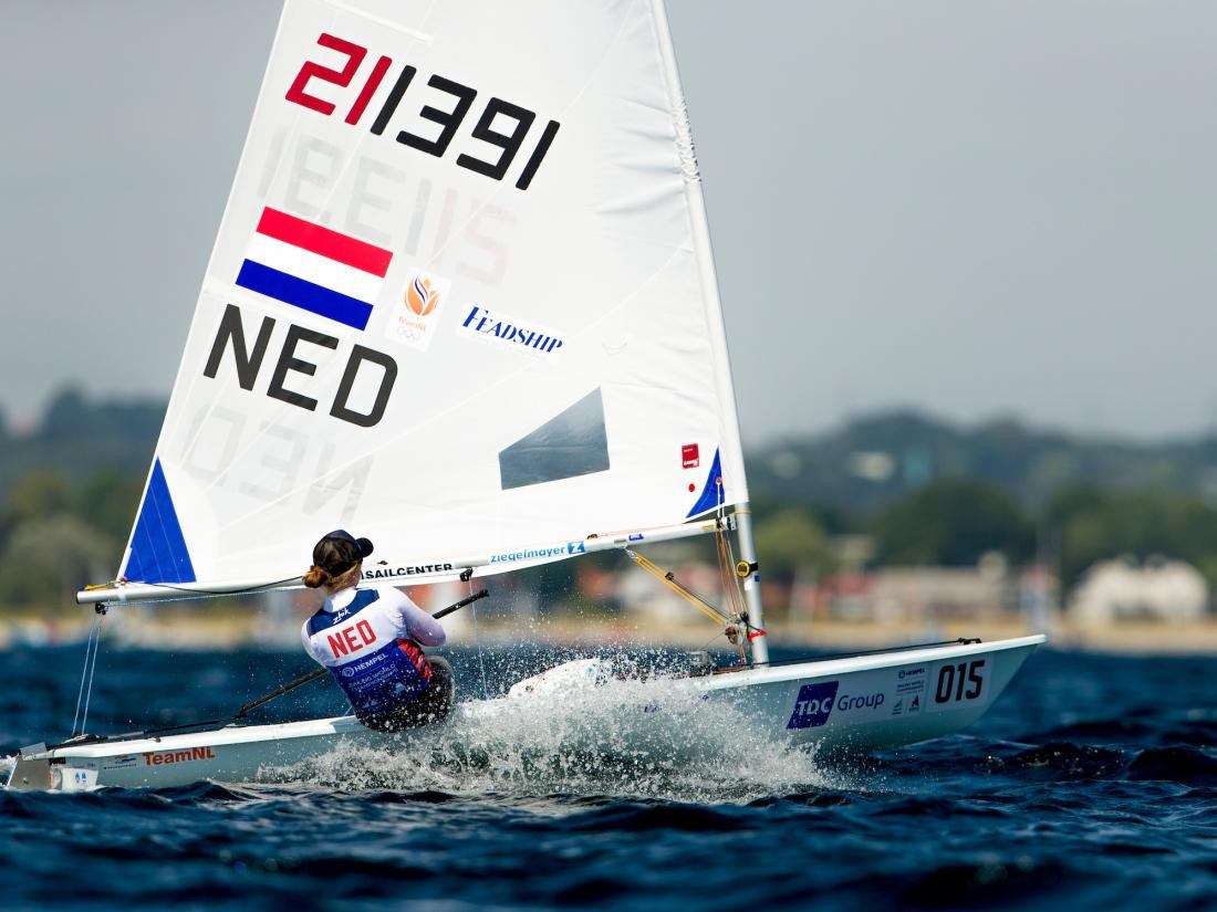 Dutch sailor Maxine Jonker recorded an impressive victory in the Laser Radials class ahead of compatriot Marit Bouwmeester, the three-times world champion, at the World Championships in Aarhus ©World Sailing