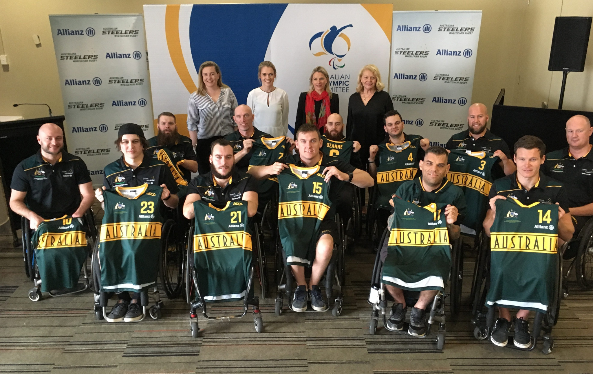 Australia's wheelchair rugby team are ready to defend their world title on the home ground of Sydney ©APC