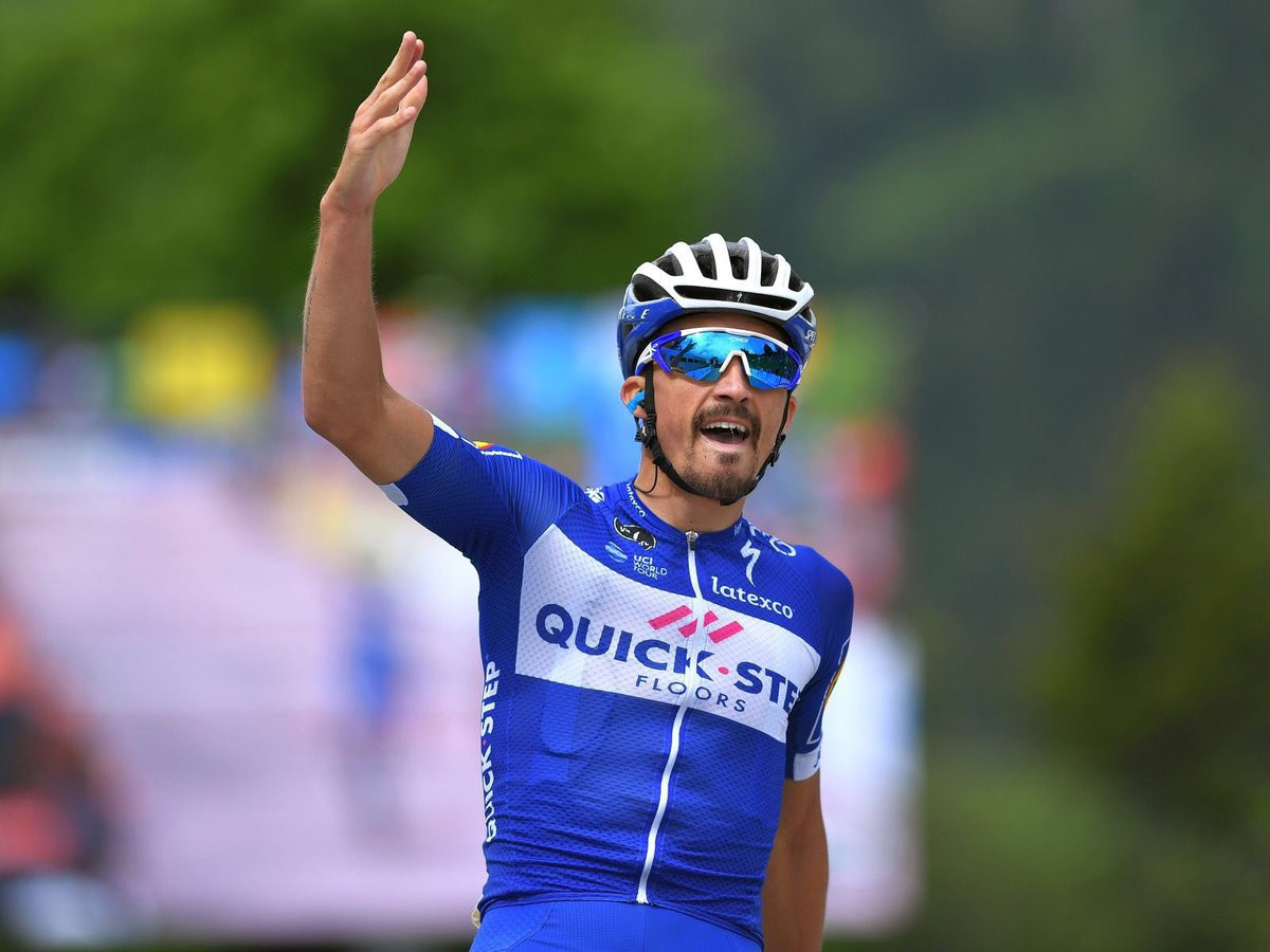France's Julian Alaphilippe sprinted to victory at the Clasica San Sebastian ©Getty Images