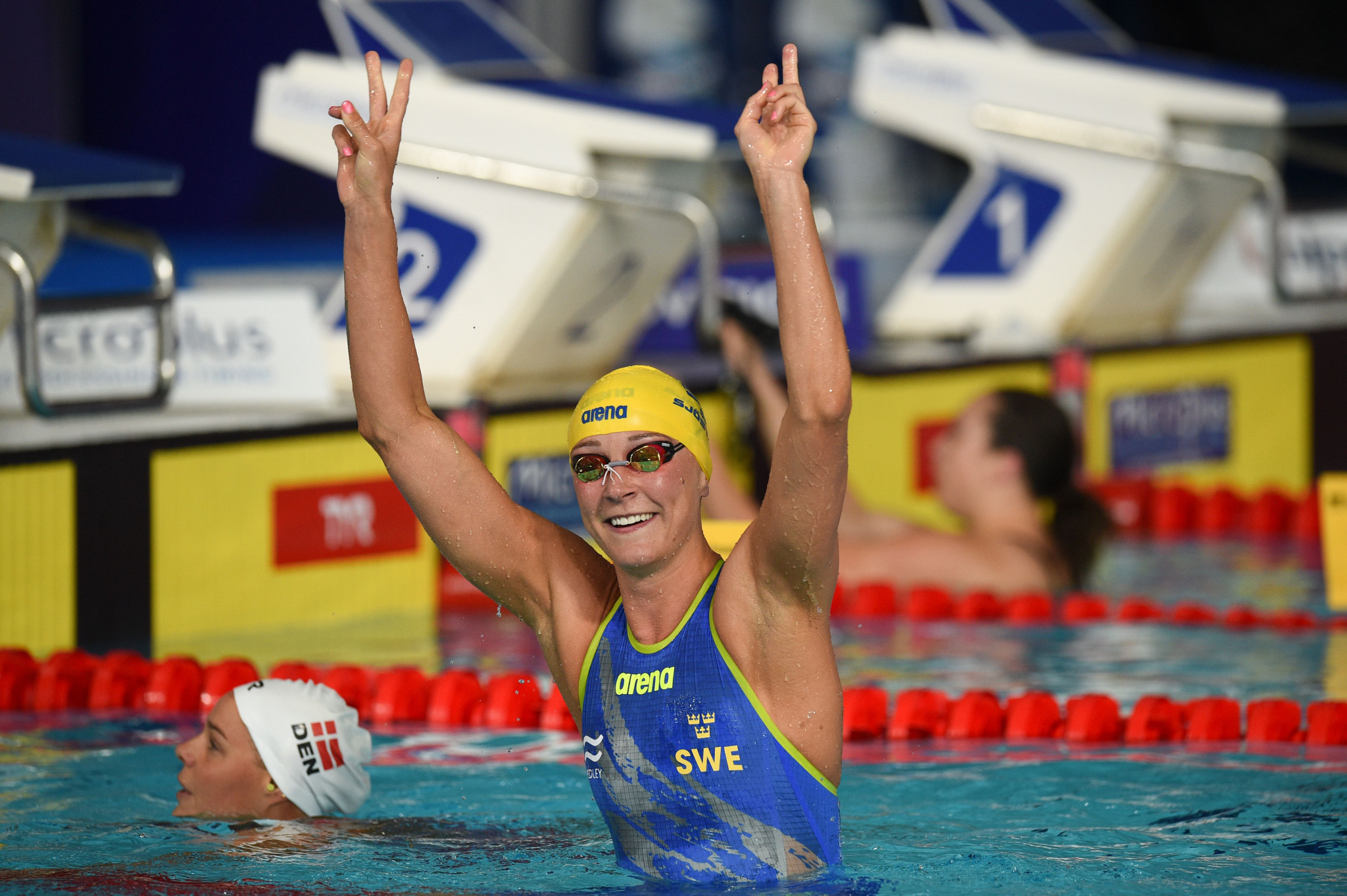 Sweden's Sarah Sjöström claimed two gold medals today ©Getty Images
