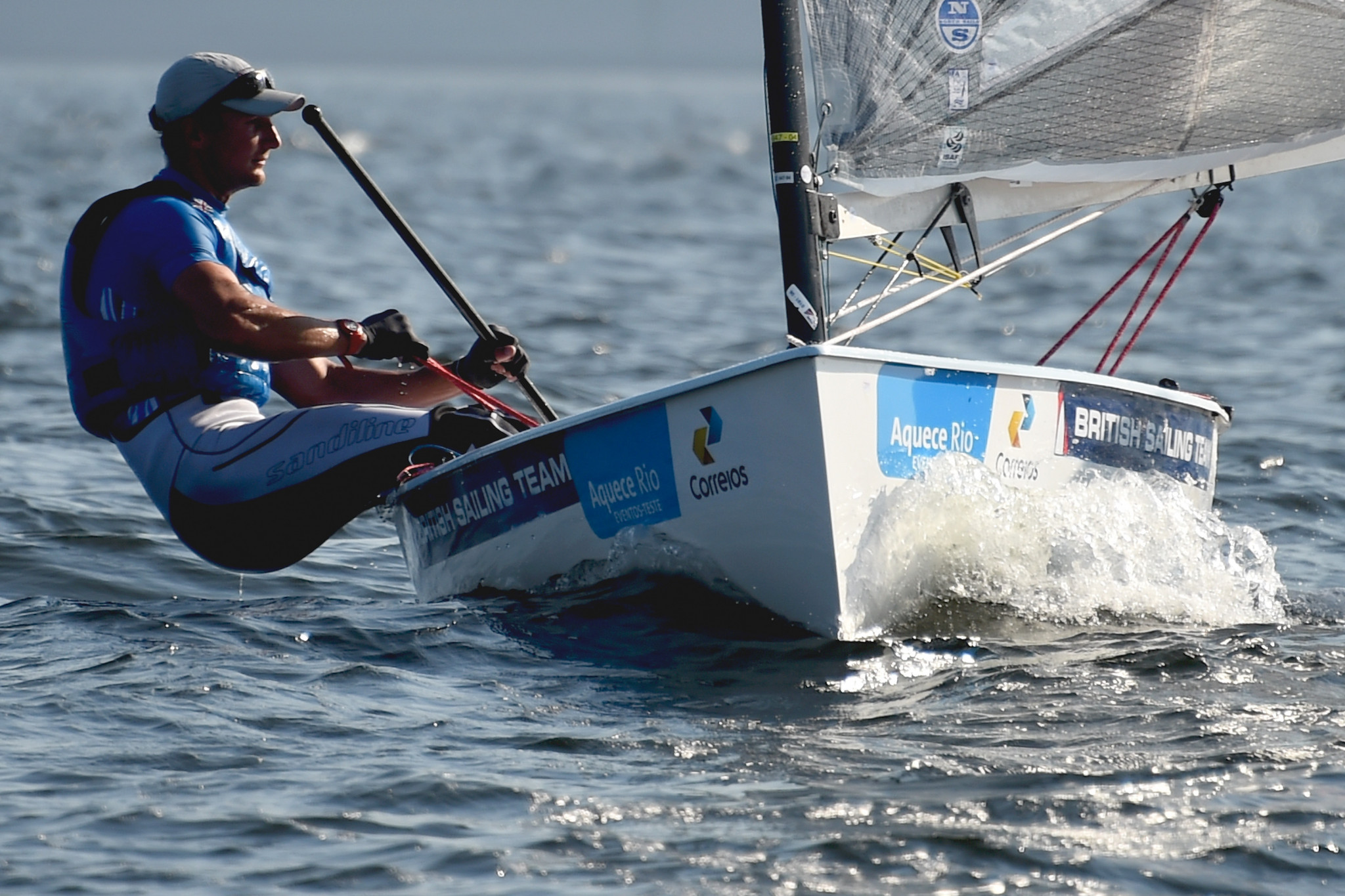 Edward Wright enjoyed a good day at the World Sailing Championships in Denmark ©Getty Images