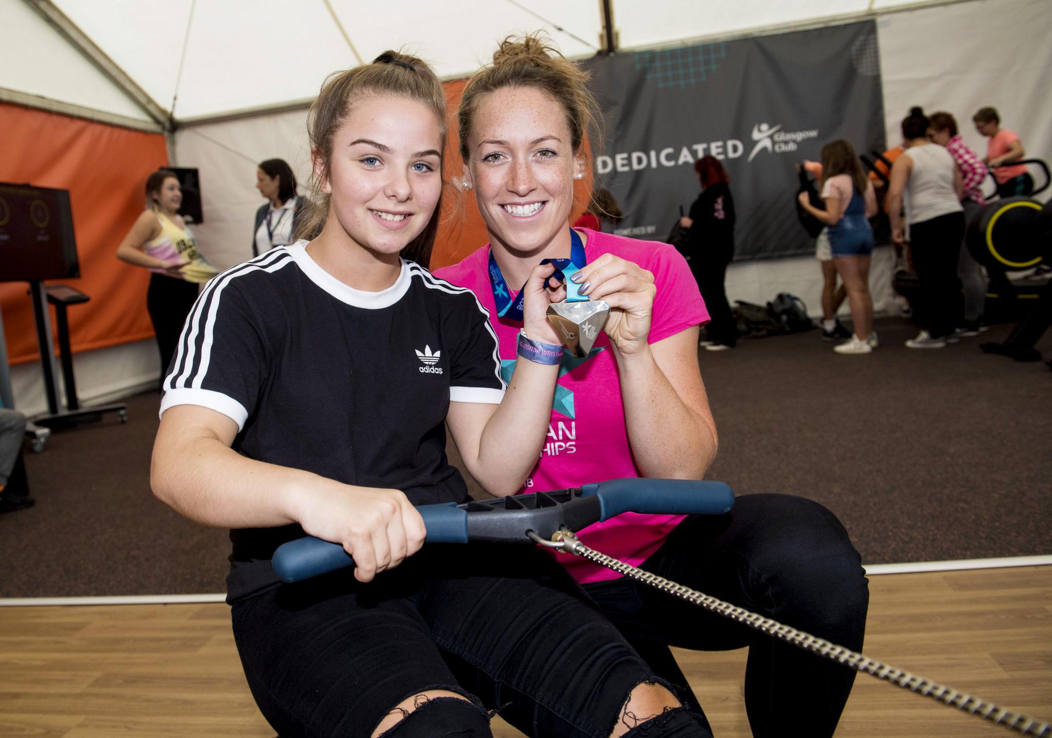 Rower Karen Bennett showed her women's eight medal off at the