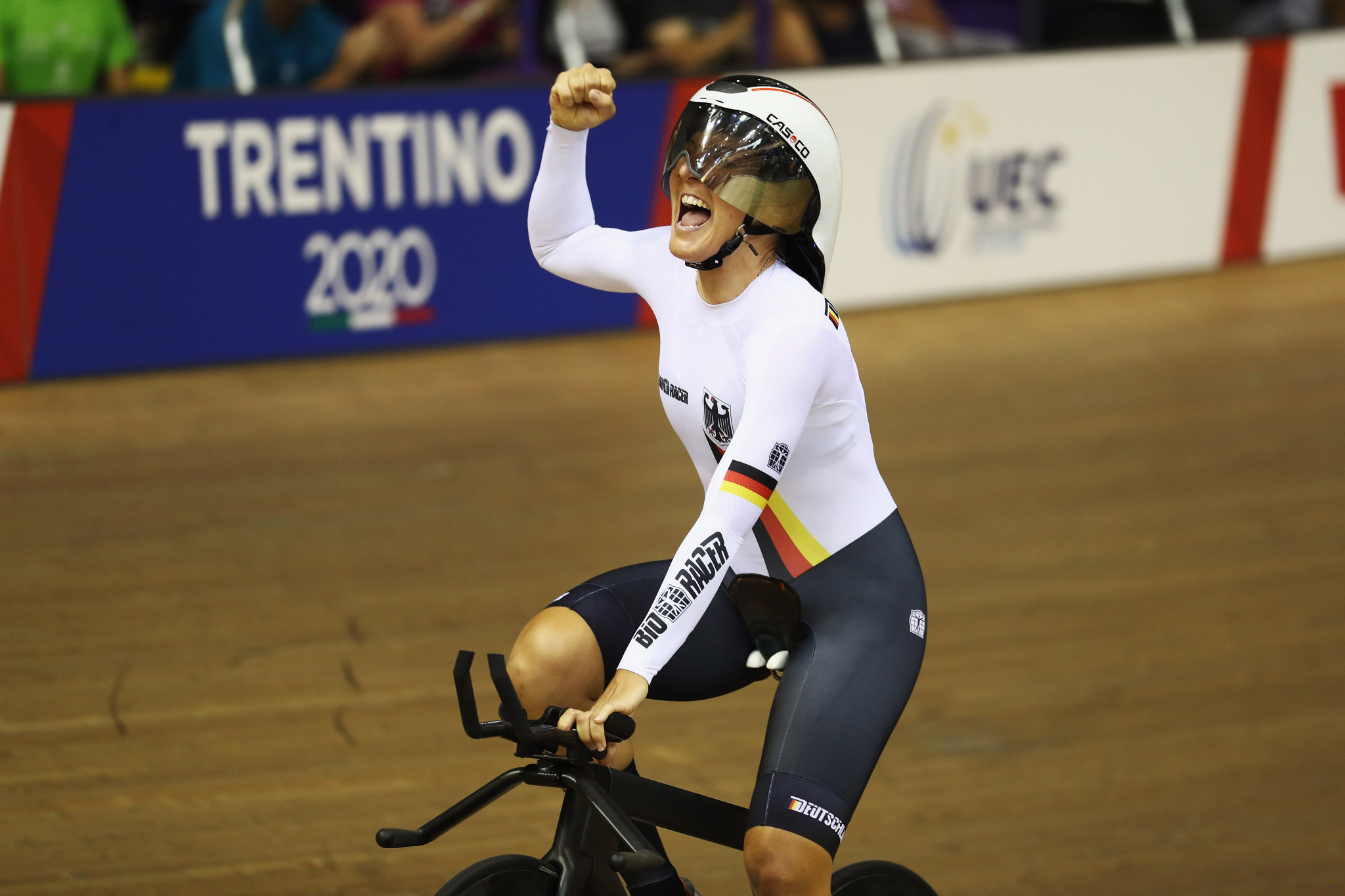Back on the track Germany's Lisa Brennauer won women's individual pursuit gold ©Getty Images