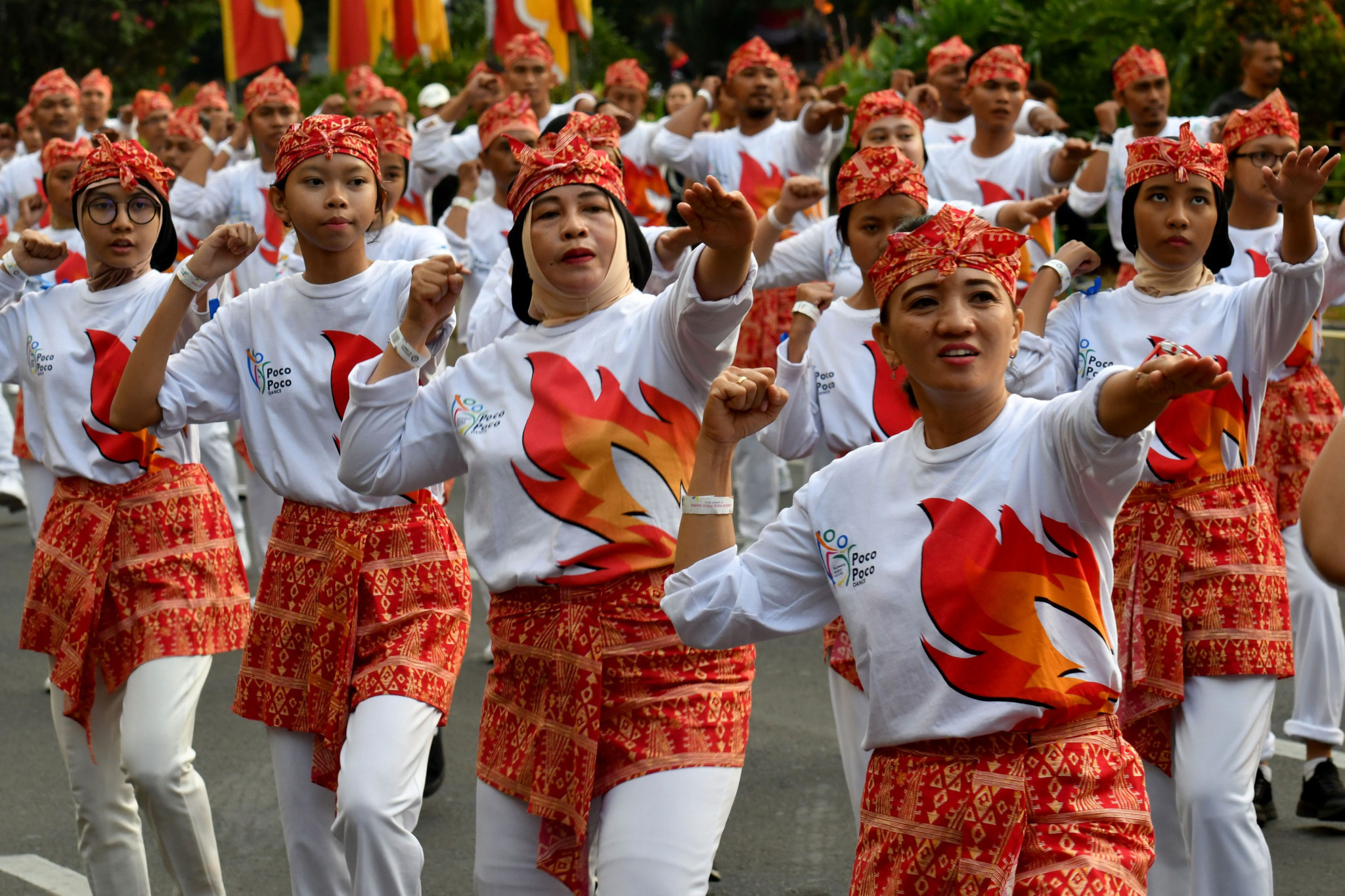 The traditional dance helped promote the Asian Games ©Getty Images