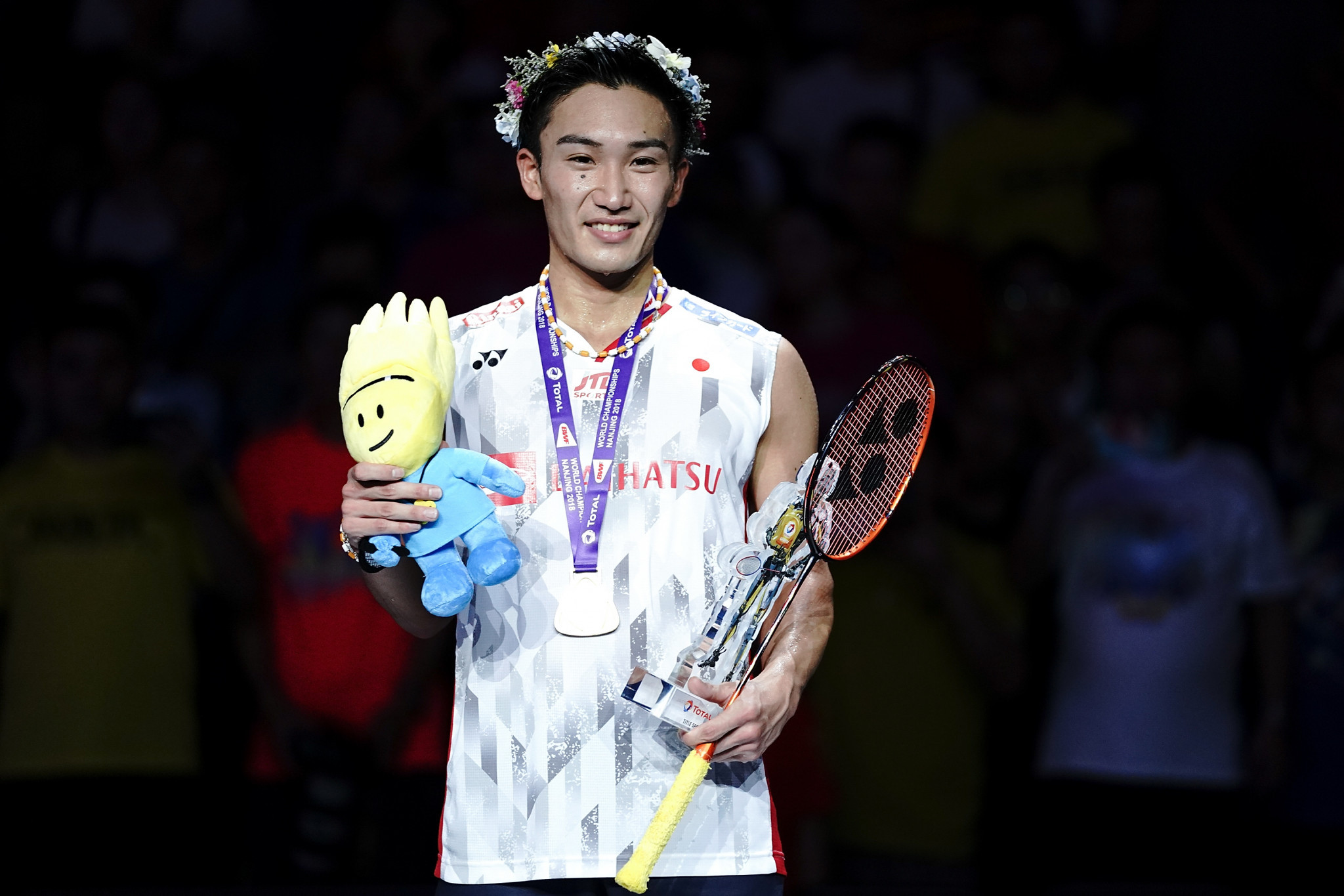 Japan's Kento Momota was crowned as men's world champion ©Getty Images