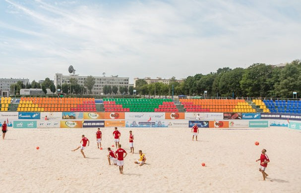 Minsk 2019 beach soccer venue officially opened