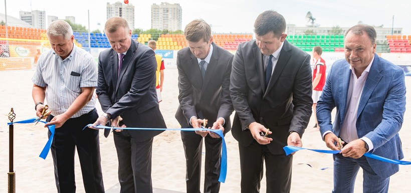 The stadium took just two months to build ©Minsk 2019