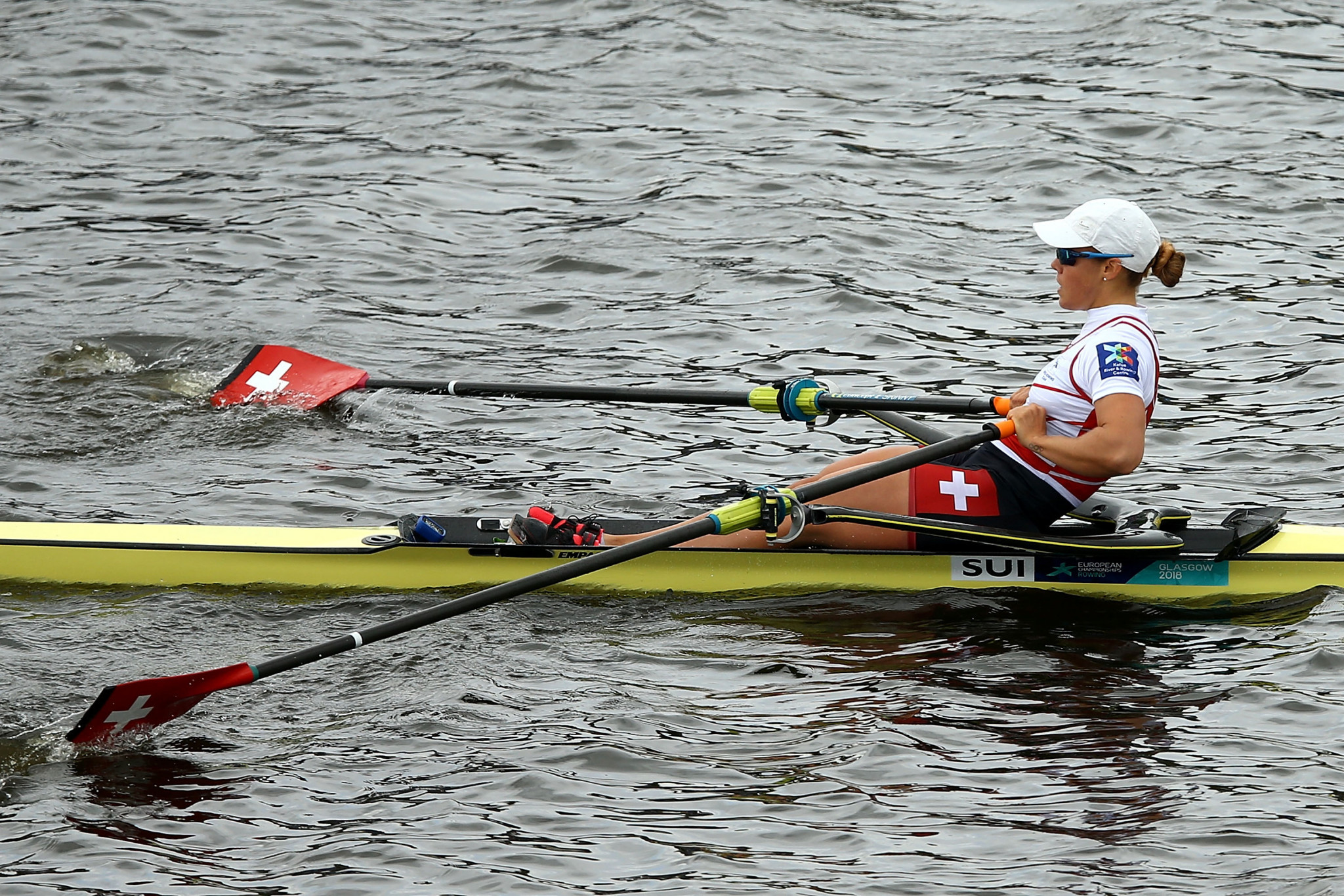 World champion Jeannine Gmelin won the women's single sculls competition ©Getty Images