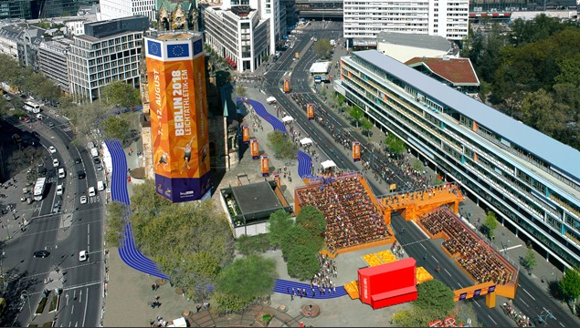 Breitscheidplatz in central Berlin will host medal ceremonies and road event finishes ©Berlin2018