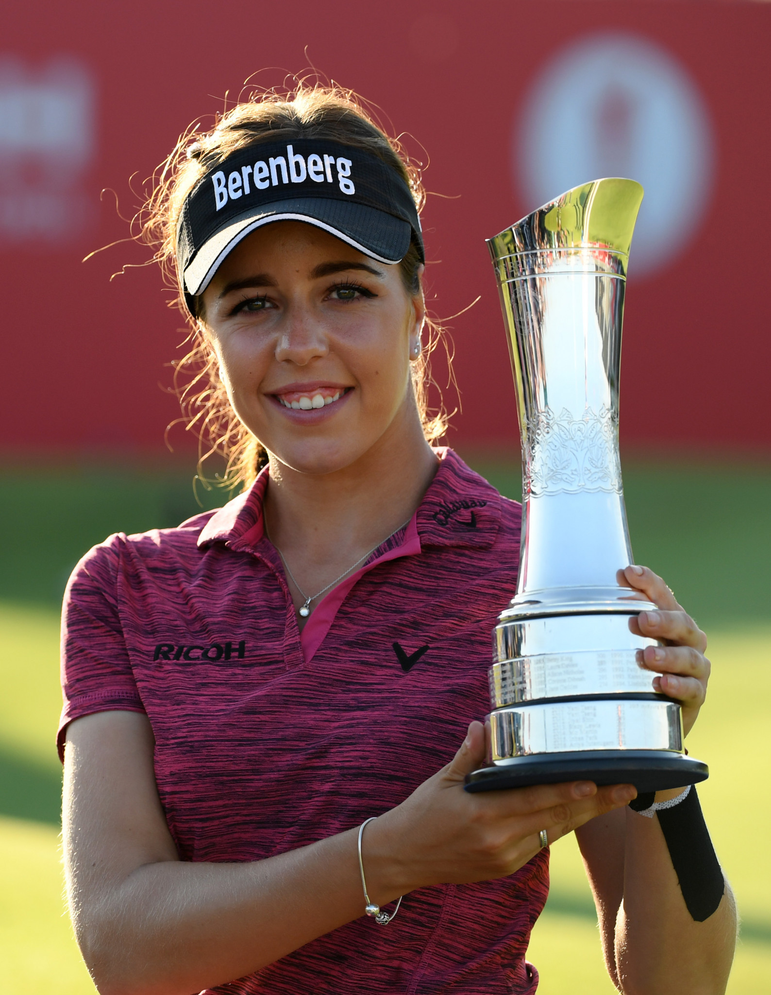 England's Georgia Hall with her Women's British Open trophy ©Getty Images