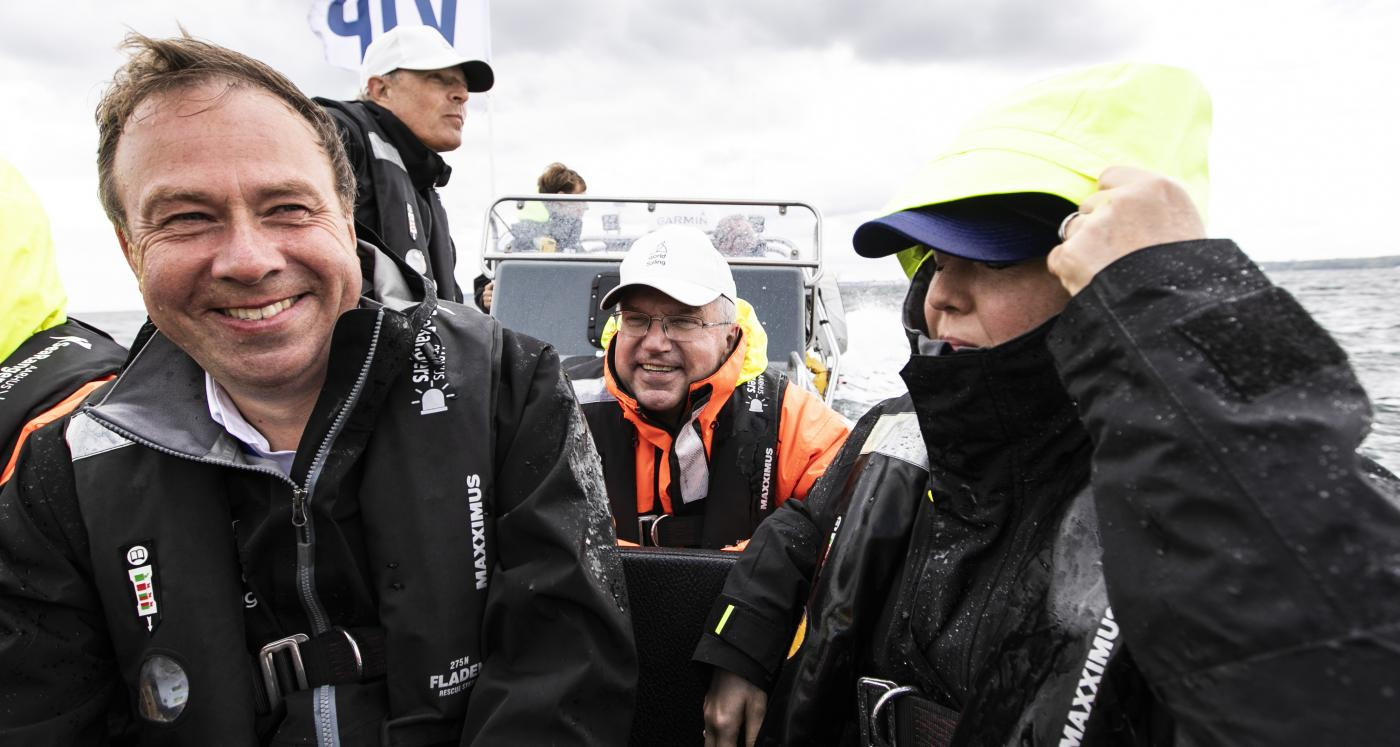 IOC President Bach visits Sailing World Championships in Aarhus