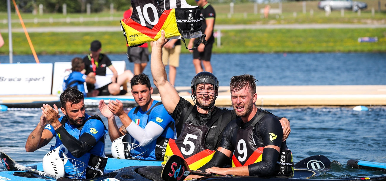Germany won both the men's and women's senior titles at the Canoe Polo World Championships ©ICF