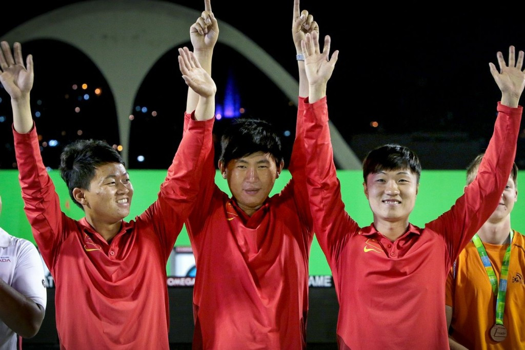 China claim gold in men's team recurve at Rio 2016 archery test event with win over Canada