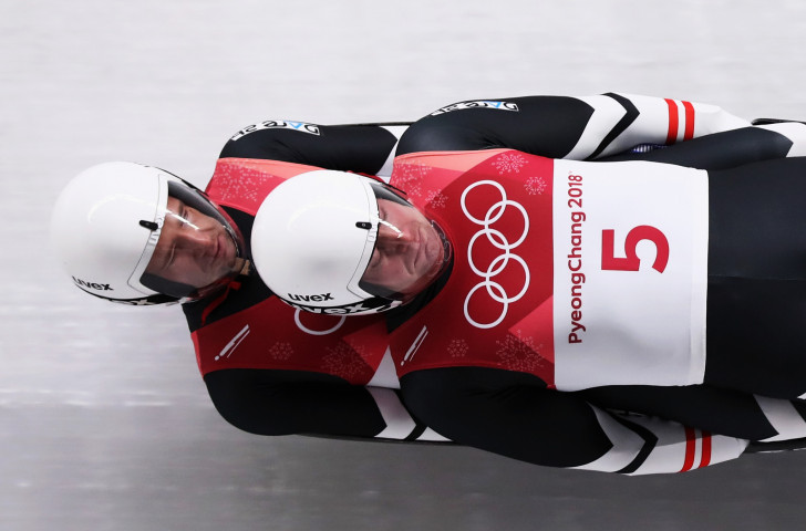Austria's Peter Penz and Georg Fischler, en-route to luge doubles silver at the Pyeongchang 2018 Olympics, have announced their retirement ©Getty Images