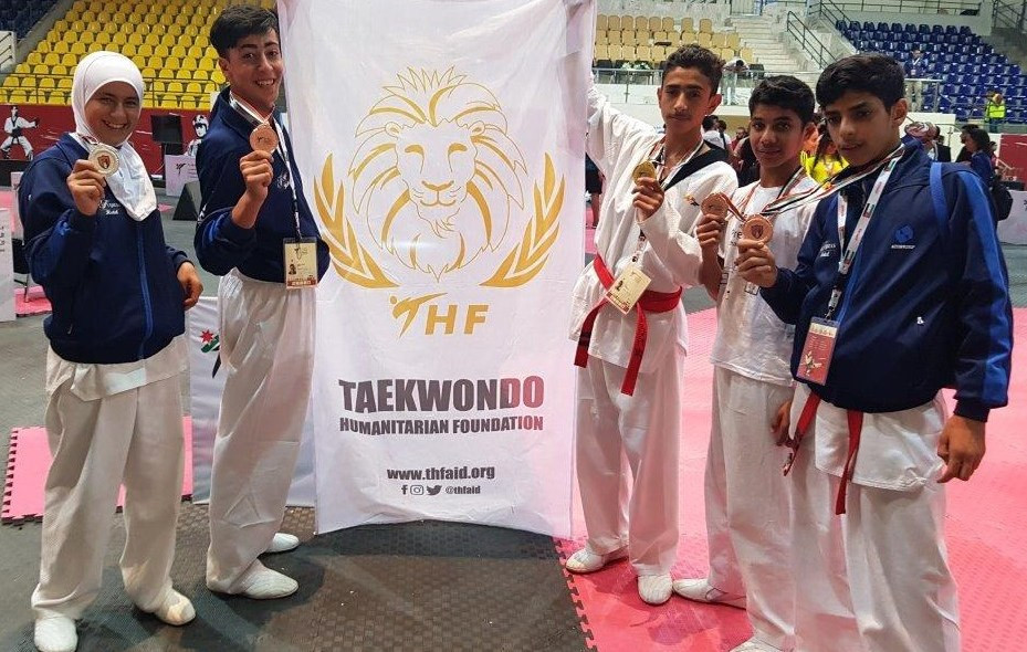 The Taekwondo Humanitarian Foundation works with refugees across the world ©THF