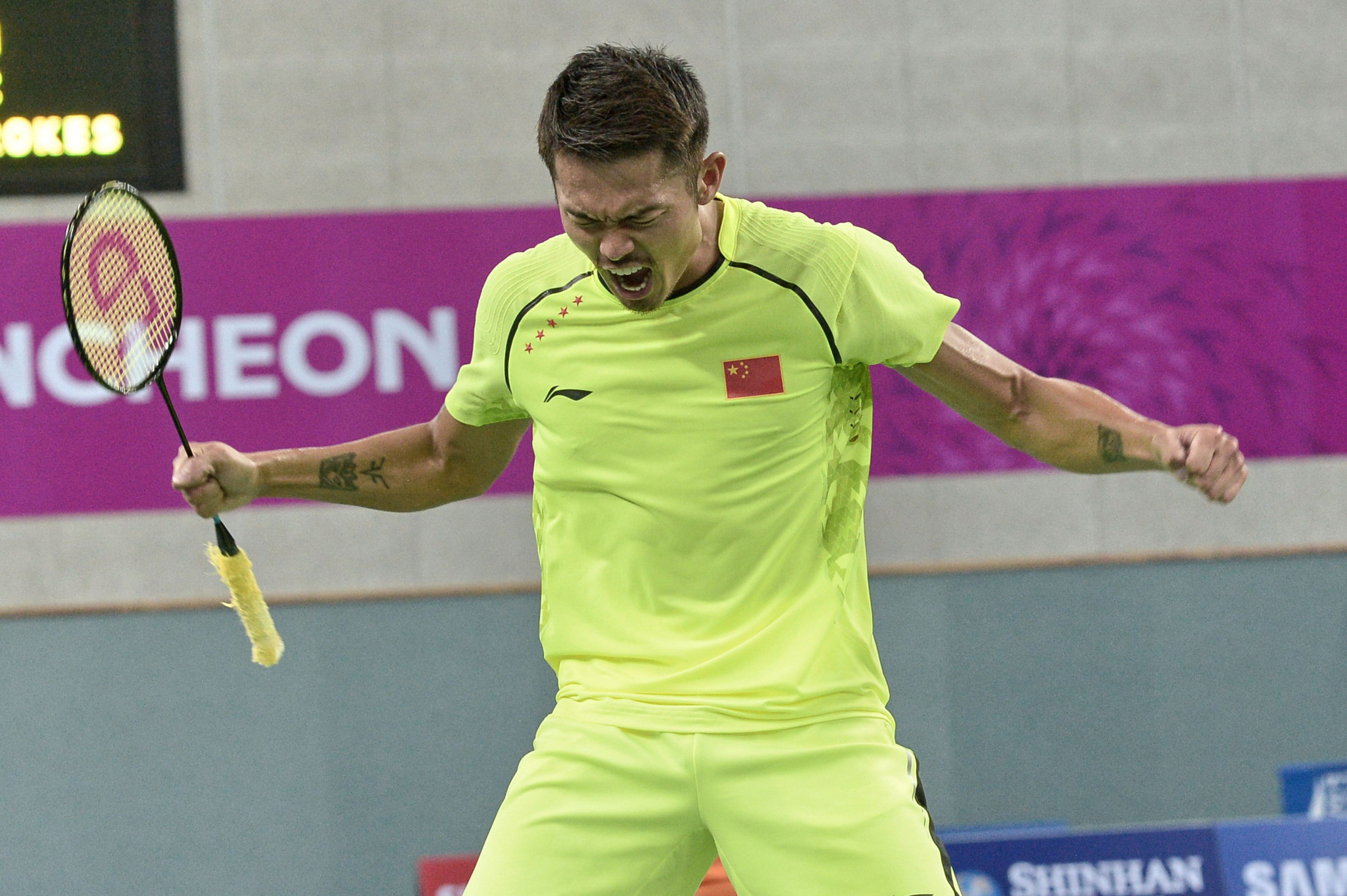 Badminton player Lin Dan was among China's 151 Asian Games gold medallists at Incheon 2014 and has been selected for Jakarta Palembang 2018 - which will be his fifth appearance in the event ©Getty Images